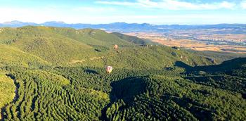 En globo por La Rioja.